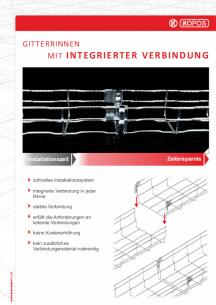 Gitterrinnen mit integrierter verbindung