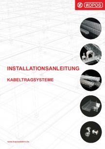 Installationsanleitung kabeltragsysteme