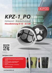 KPZ-1_PO Gerätedose für Brandschutzwände