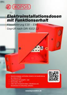 Elektroinstallationsdosen mit Funktionserhalt