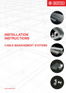 Installation instructions - Cable management systems