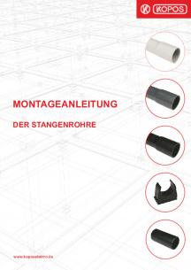 Montageanleitung der Stangenrohre