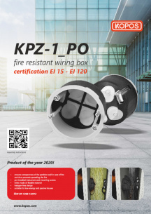 Fire resistant wiring box KPZ-1_PO