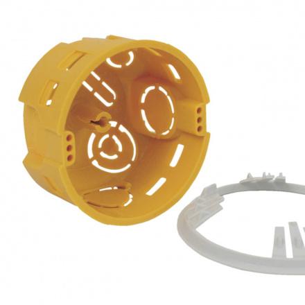 KPM 64/LU NA - krabice přístrojová s montážním kroužkem MKU 64