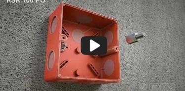 Embedded thumbnail for Montageanleitung Elektroinstallationsdosen KSK 100 PO mit Funktionserhalt