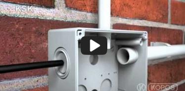 Embedded thumbnail for Montageanleitung Elektroinstallationsdose KSK nach Schutzart IP66